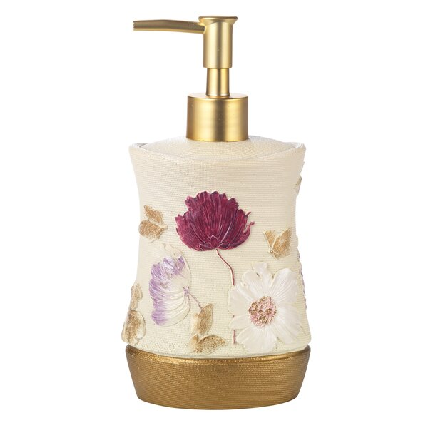 Dahlia Rose Lotion Dispenser by Popular Bath