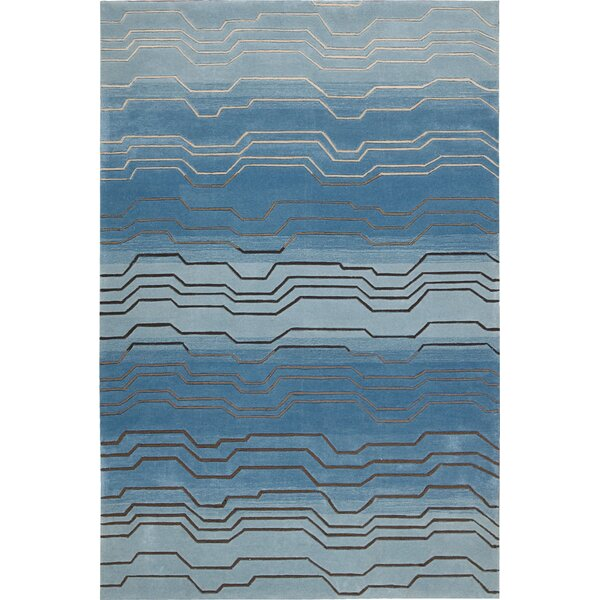Newbury Hand-Tufted Azure Area Rug by Ivy Bronx