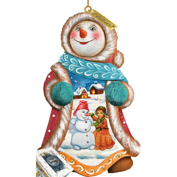 Fifield Snowyday Snowman Ornament Figurine with Scenic Painting by The Holiday Aisle