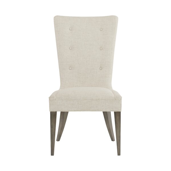 Profile Tufted Upholstered Side Chair in White (Set of 2)