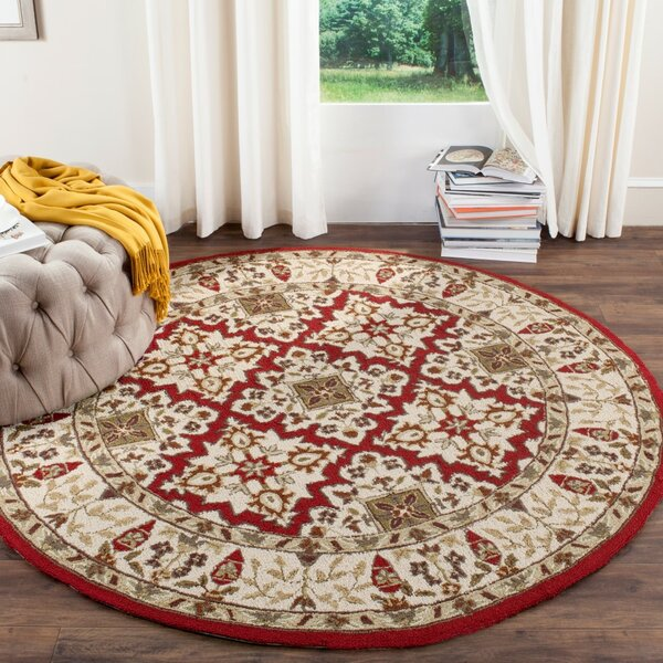 Broadcommon Hand-Hooked Ivory Area Rug by Charlton Home