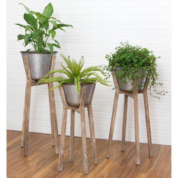 Verrill Modern Rustic 3-Piece Aluminum Pot Planter Set by Gracie Oaks