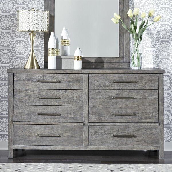 Cortinas 8 Drawer Double Dresser by Gracie Oaks