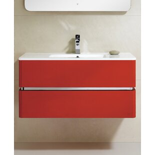 Reviews Stellan 39 Wall-Mounted Single Bathroom Vanity Set By Orren Ellis