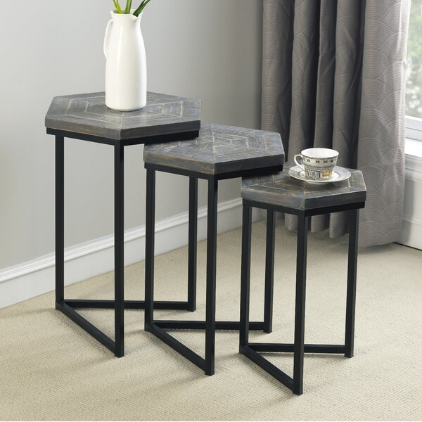 Maryellen 3 Piece Nesting Tables by Brayden Studio Brayden Studio