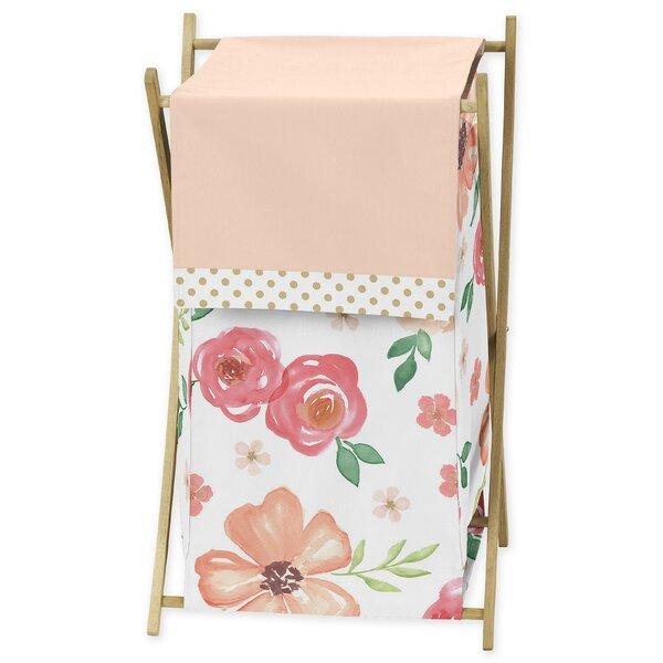 Watercolor Floral 3 Piece Laundry Hamper Set by Sweet Jojo Designs