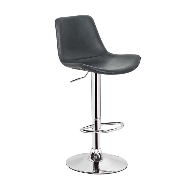 Gretna Adjustable Height Swivel Bar Stool by Orren Ellis Orren Ellis