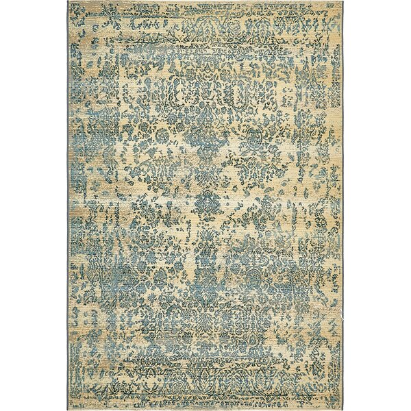 Ile Beige Indoor/Outdoor Area Rug by World Menagerie