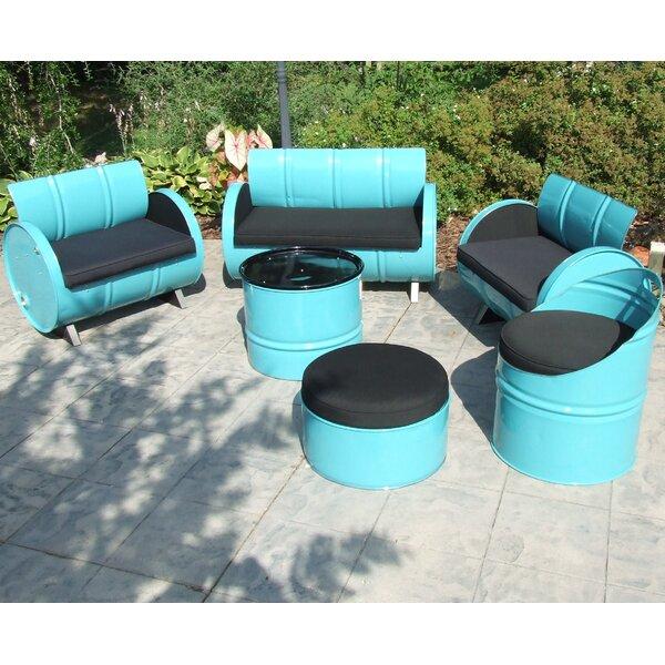 Thadine 6 Piece Sunbrella Sofa Set with Cushions by Millwood Pines