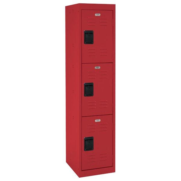 3 Tier 1 Wide School Locker by Sandusky Cabinets
