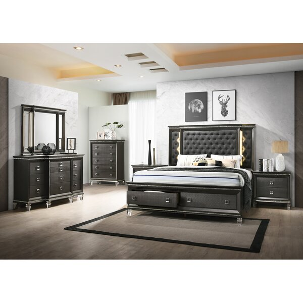 Nueva Eastern King Platform 4 Piece Bedroom Set by Rosdorf Park