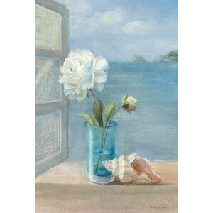 Coastal Floral I Painting Print on Wrapped Canvas by East Urban Home
