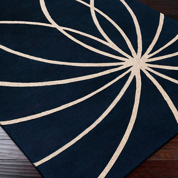 Dewald Dark Blue/Antique White Area Rug by Ebern Designs
