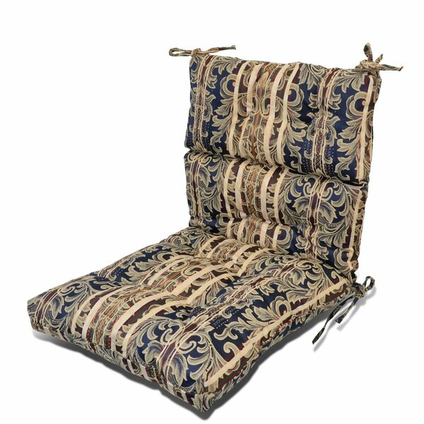Patio Seat Back Indoor/Outdoor Rocking Chair Cushion