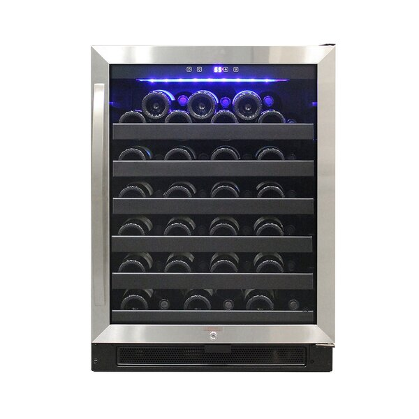 54 Bottle Stainless Single Zone Built-In Wine Cooler by Vinotemp