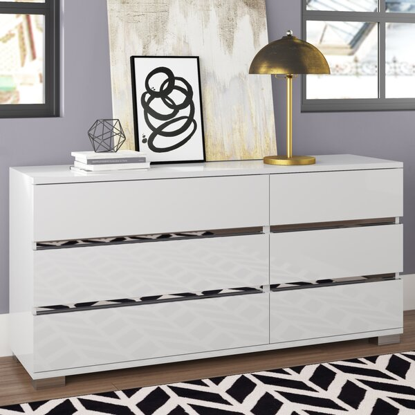 Salerno 6 Drawer Double Dresser by Brayden Studio