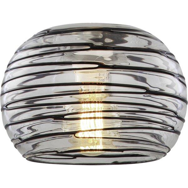 Dunlevy 6.5 H Glass Sphere Pendant Shade ( Screw On ) in Gray/Black