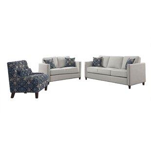 Englemann 3 Piece Living Room Set by Red Barrel Studio®