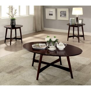 Best Brashears Mid-Century Modern 3 Piece Coffee Table Set By Red Barrel Studio