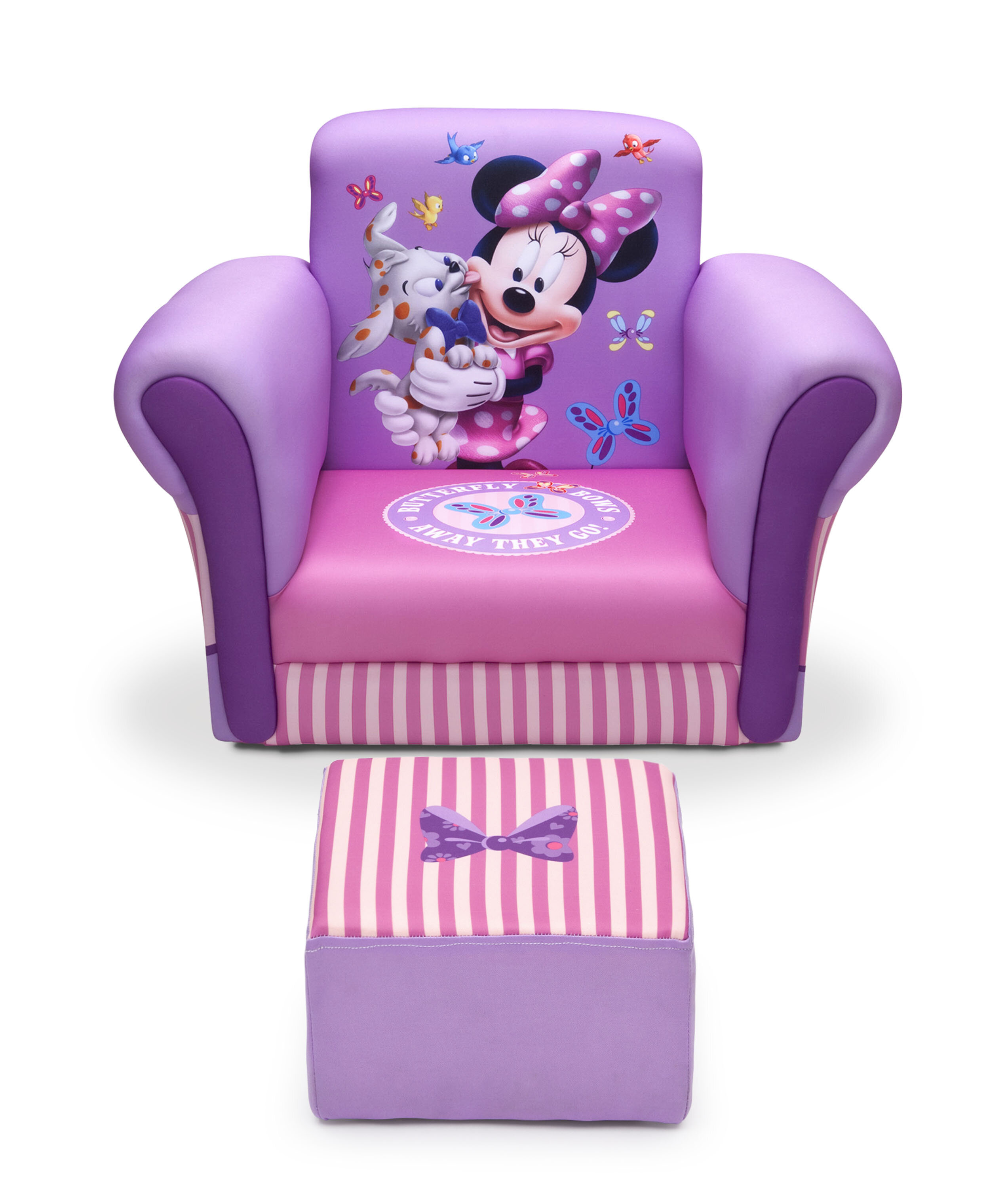 Pleasant Minnie Mouse Kids Chair And Ottoman Pdpeps Interior Chair Design Pdpepsorg