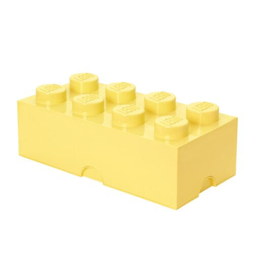 Yellow The Lego Storage Brick Toy Box 2 Knob