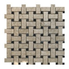 Olympos Basket Weave 1 x 2 Marble Mosaic Tile in Beige by Seven Seas