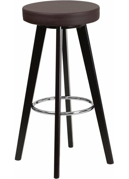 Outen Backless 30'' Swivel Bar Stool by Wrought Studio