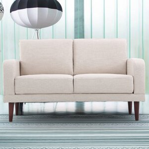 Linen Upholstered Loveseat by Container