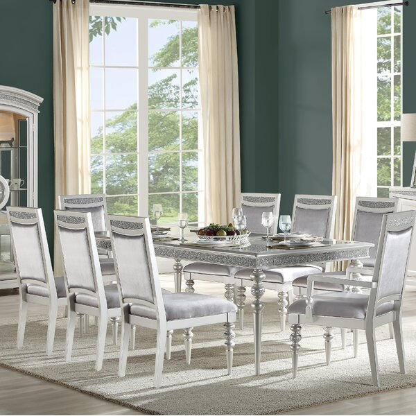 Leda 9 Piece Extendable Dining Set by Rosdorf Park Rosdorf Park
