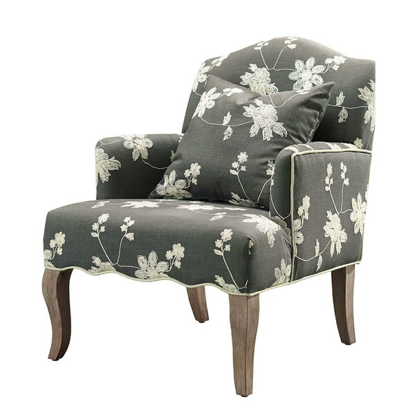 Analia Fabric Wooden Armchair By August Grove