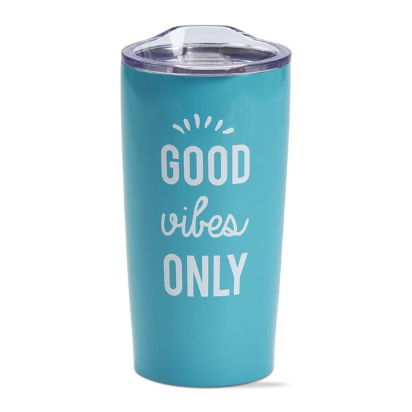 Good Vibes Double Wall Stainless Steel 18 oz. Insulated Tumbler by TAG