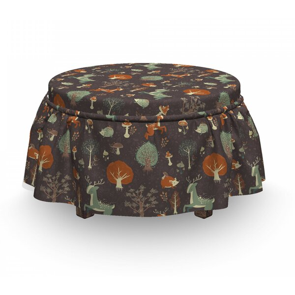 Animals Mushrooms Trees Ottoman Slipcover (Set Of 2) By East Urban Home