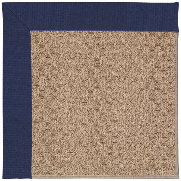 Lisle Machine Tufted Navy/Brown Indoor/Outdoor Area Rug by Longshore Tides