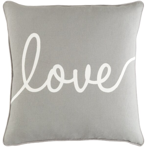 Carnell Love Cotton Throw Pillow by Mercury Row