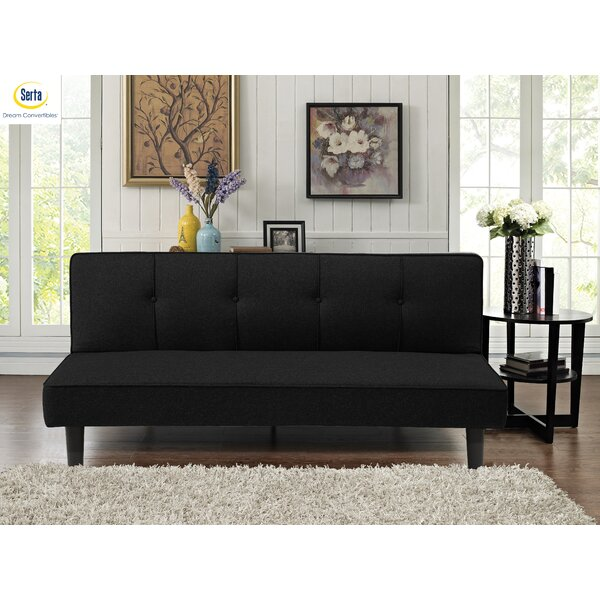 London Full Tufted Back Convertible Sofa By Serta