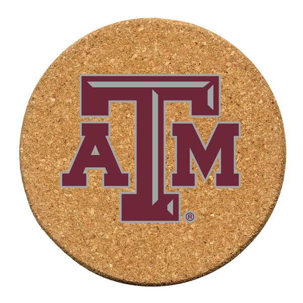 Texas A & M University Cork Collegiate Coaster Set (Set of 6) by Thirstystone