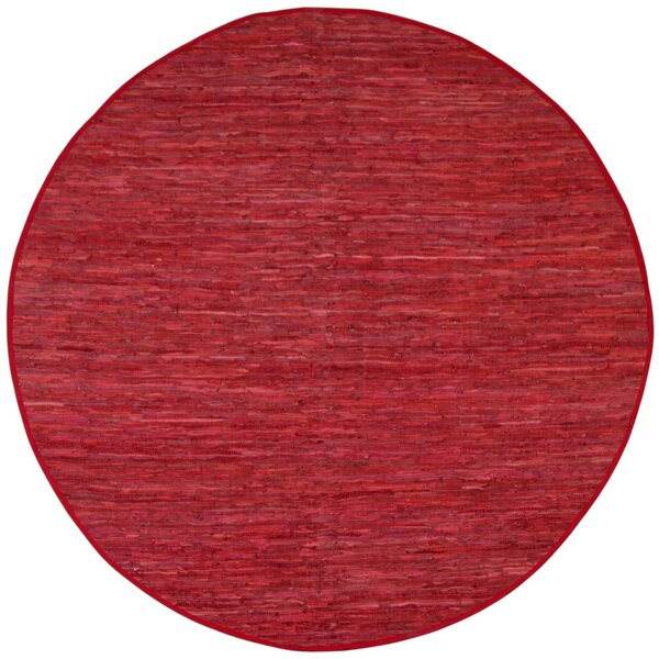 Sandford Flatweave Cotton Red Area Rug by Latitude Run