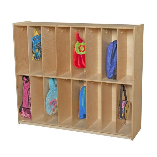 2 Tier 8 Wide Coat Locker by Wood Designs