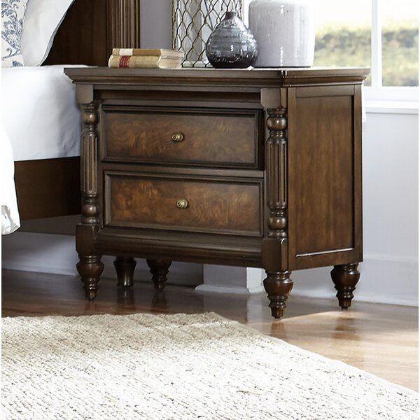 Kimbro 2 Drawer Nightstand by Charlton Home