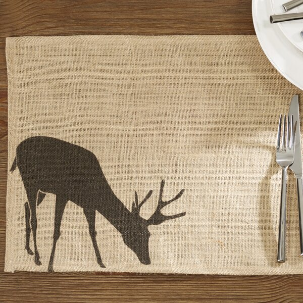 Forellen Burlap Placemat (Set of 4) by Loon Peak