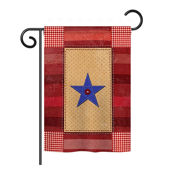 One-Star Service 2-Sided Vertical Flag by Breeze Decor