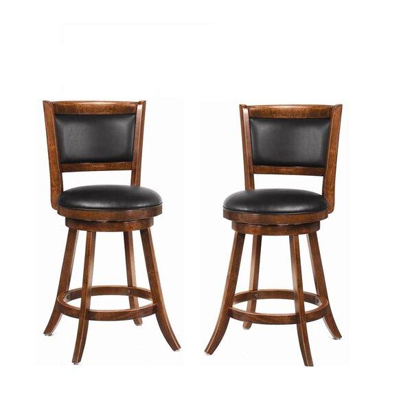 Jackman 24 Swivel Bar Stool (Set of 2) by Wildon Home ®