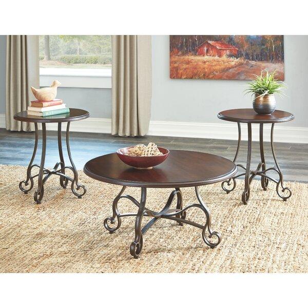 Kempner 3 Piece Coffee Table Set By Fleur De Lis Living