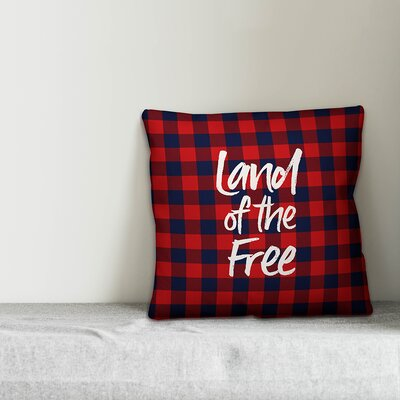 August Grove Iacovelli Land of the Free Buffalo Check Throw Pillow