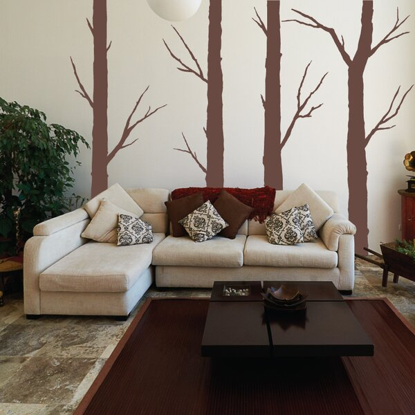 4 Piece Forest Trees Wall Decal Set by Sissy Little