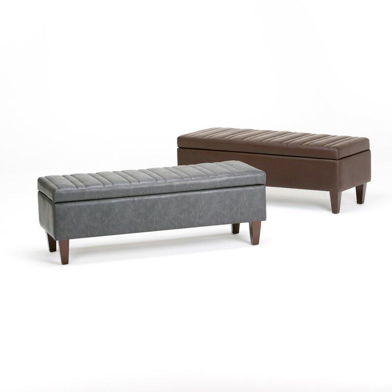 Laforce Faux Leather Storage Bench