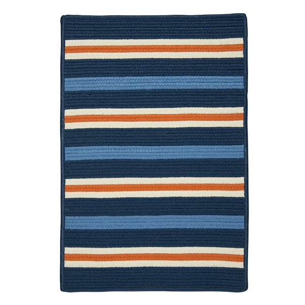 Painter Stripe Set Sail Blue Indoor/Outdoor Area Rug by Colonial Mills