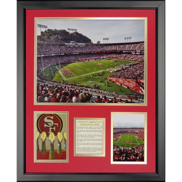 NFL San Francisco 49ers - Candelstick Park Framed Memorabili by Legends Never Die