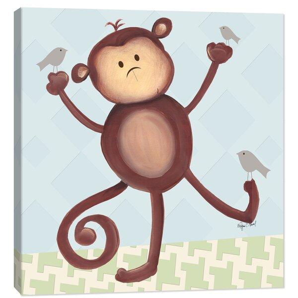 Jungle Matthew Monkey Canvas Art by Doodlefish