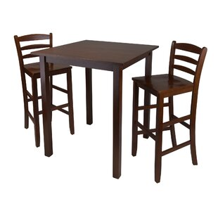 Compare prices Auburn Road 3 Piece Pub Table Set by Red Barrel Studio